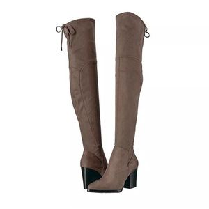 Marc Fisher LTD Taupe Adora Over The Knee Boots 10